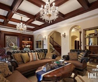 美式别墅设计实景图:...