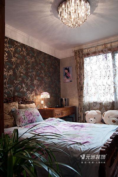 ,卧室,中式,