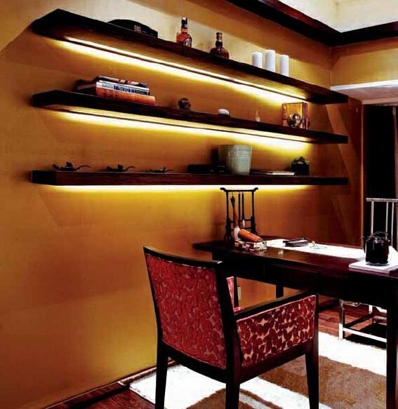 ,现代,黄色,书房,