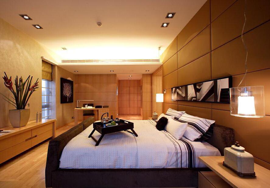 ,卧室,简约,原木色,