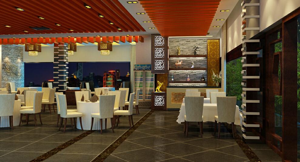 现代风格客家饭馆,50万,350平,公装,现代,效果图,小资,