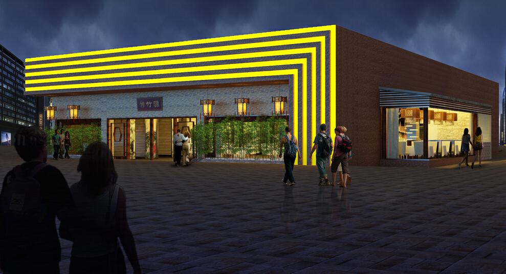现代风格客家饭馆,现代,350平,效果图,公装,50万,小资,