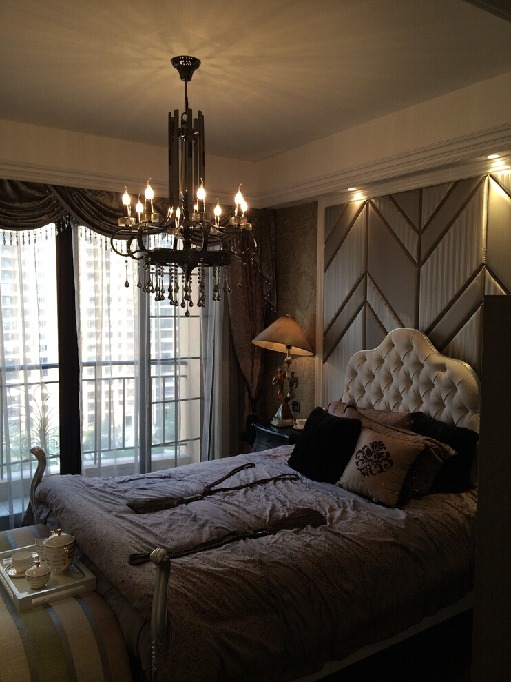 ,欧式,大户型,白色,199平,卧室,300万,