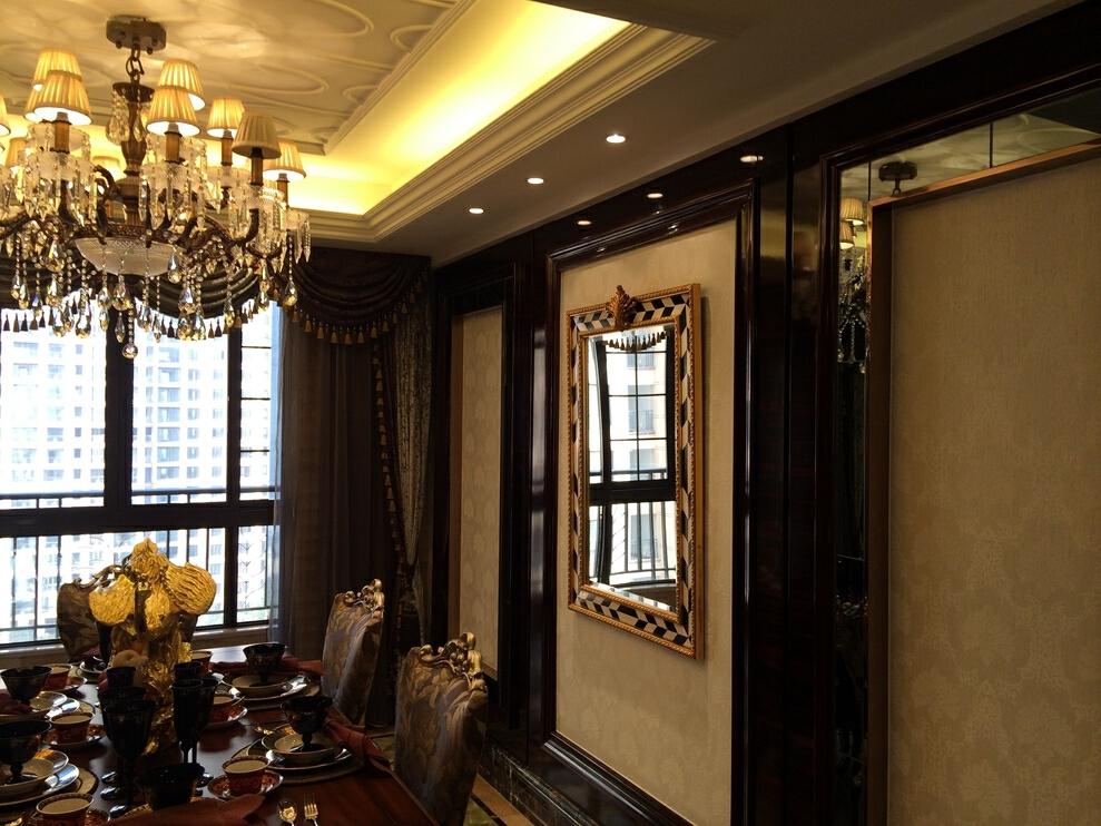 ,欧式,320万,原木色,餐厅,199平,大户型,