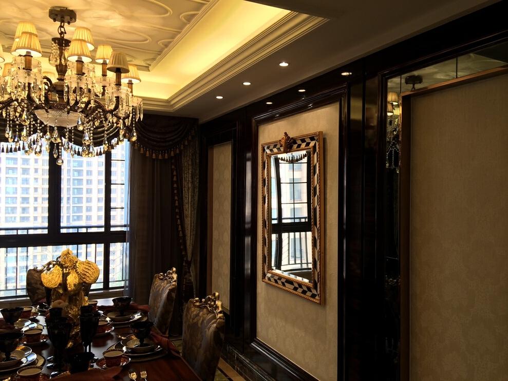 ,大户型,199平,餐厅,原木色,欧式,320万,