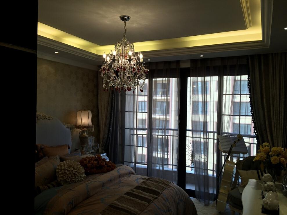 ,199平,320万,大户型,欧式,白色,卧室,