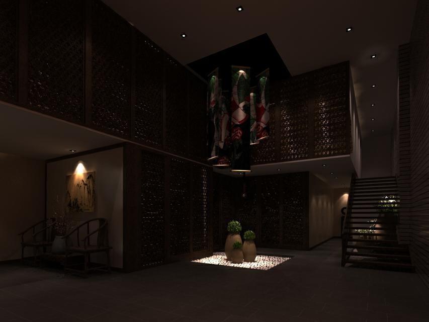 ,黑白,中式,效果图,公装,150000万,1200平,原木色,客厅,
