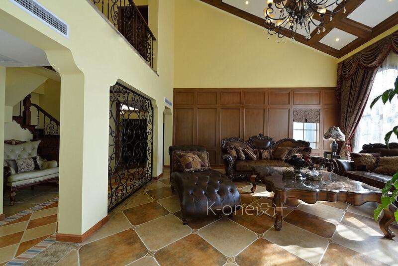 ,别墅,110万,客厅,340平,美式,
