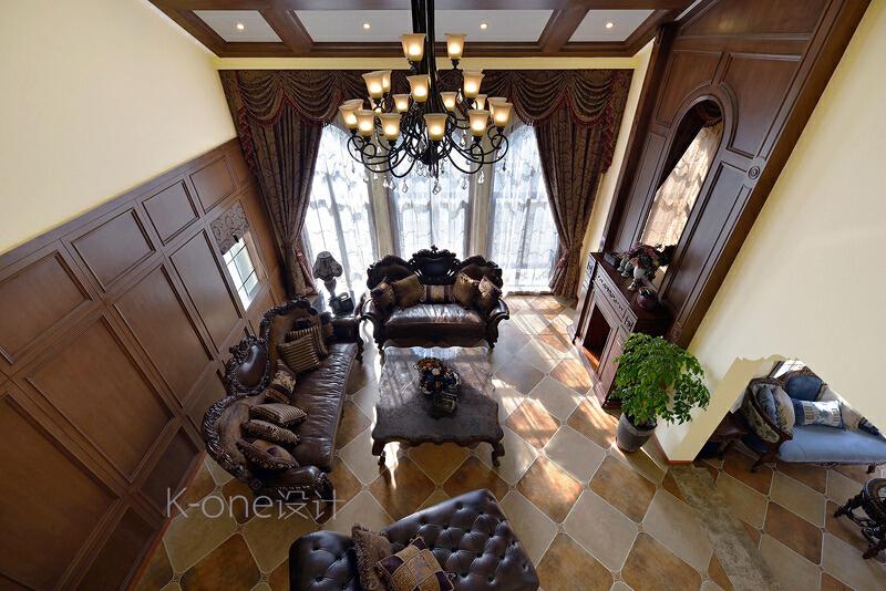 ,客厅,美式,340平,别墅,110万,