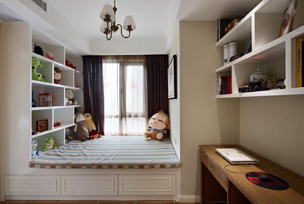 ,230平,80万,现代,四居,书房,卧室,白色,