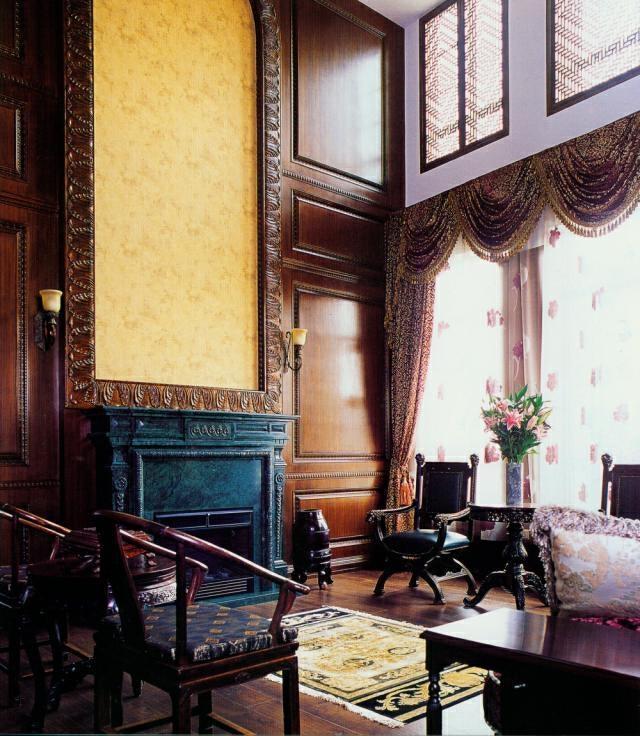 ,155万,409平,客厅,中式,原木色,别墅,