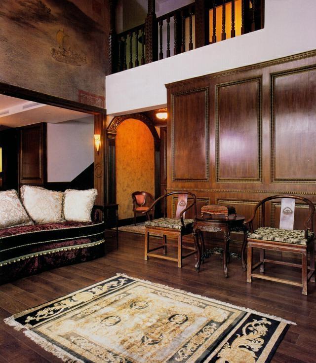 ,155万,中式,客厅,别墅,原木色,409平,