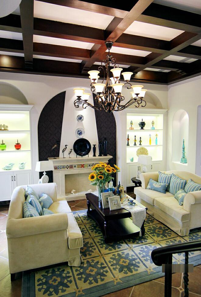 ,现代,一居,213平,46万,白色,客厅,