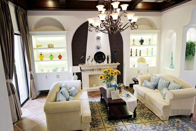 ,白色,46万,213平,一居,现代,客厅,