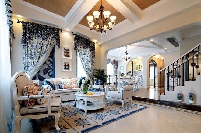 ,60万,客厅,别墅,300平,地中海,