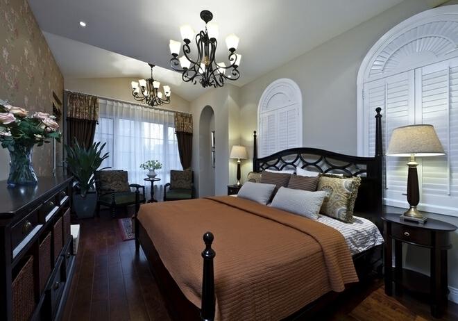 ,400平,80万,美式,别墅,卧室,