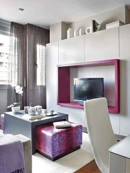 ,客厅,45平,4万,一居,现代,