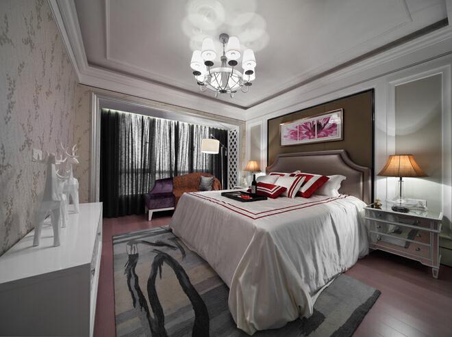 ,三居,18万,欧式,卧室,120平,白色,