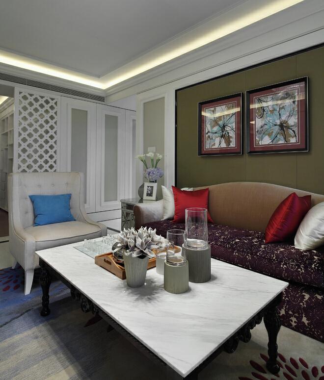 ,白色,三居,客厅,18万,欧式,120平,