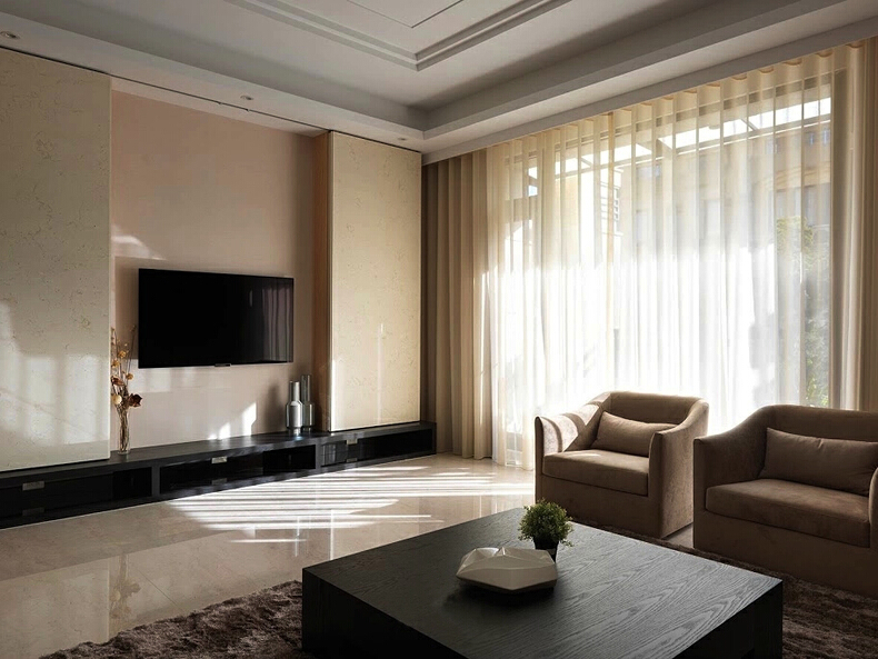 ,240平,10万,现代,四居,客厅,白色,