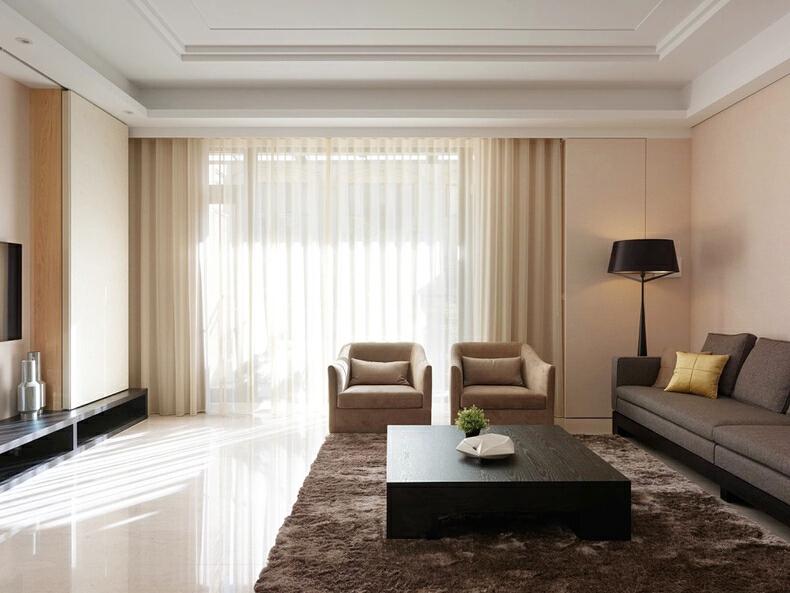 ,白色,240平,四居,现代,10万,客厅,
