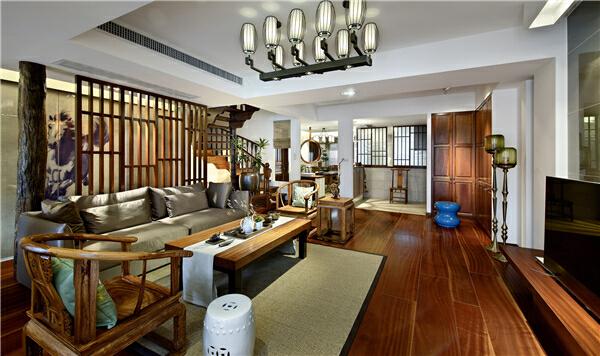 ,280平,客厅,150万,中式,原木色,别墅,