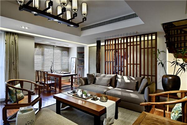 ,客厅,150万,280平,原木色,中式,别墅,