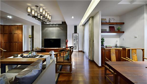 ,客厅,别墅,原木色,150万,280平,中式,