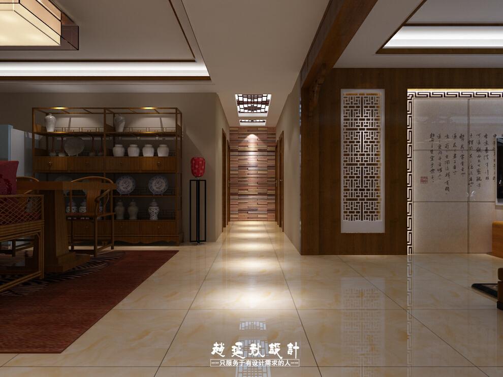 ,185平,35万,中式,三居,客厅,餐厅,玄关,