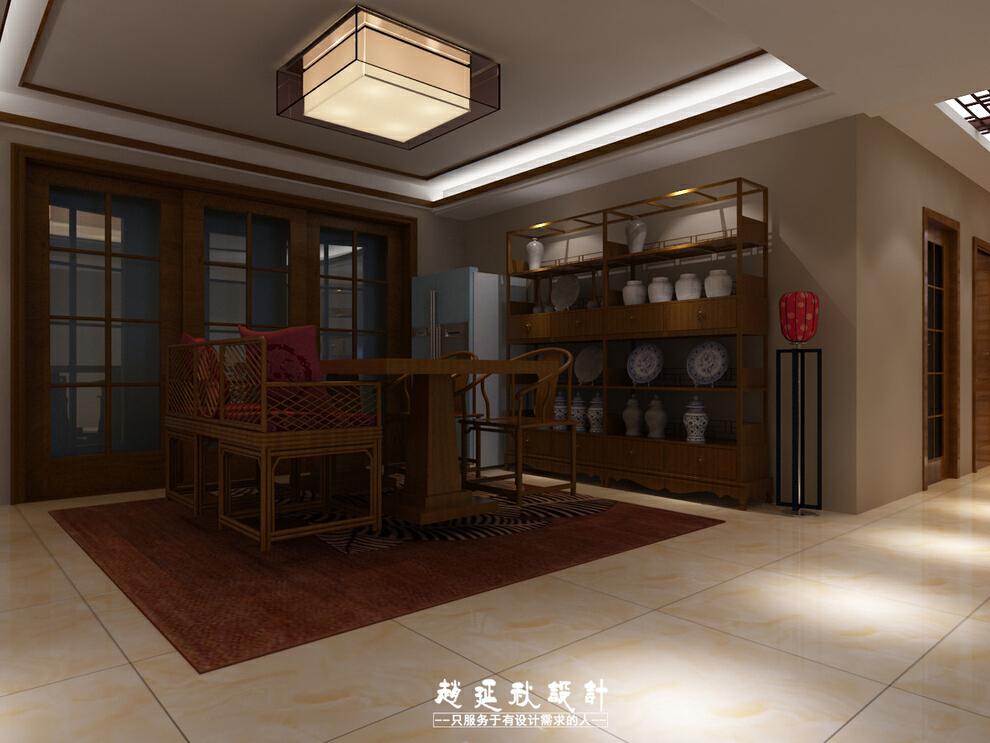 ,185平,35万,中式,三居,餐厅,厨房,