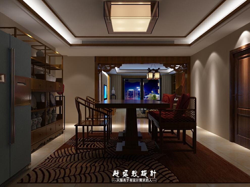 ,185平,35万,中式,三居,餐厅,客厅,