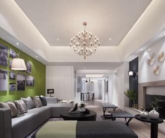 现代简约三居室装修 简洁...