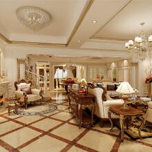 复地香栀花园别墅户型装修欧式古典风格设计方案展示