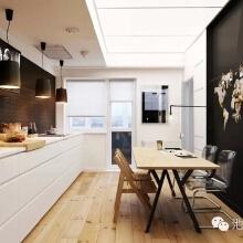 巧妙的黑白组合贯穿整个公寓以确保良好的空间流动。这会导致视觉分割并使公寓看起来比实际上更加干净宽敞。