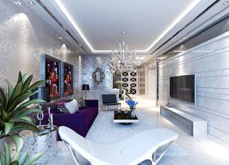 后现代风格简约二居室