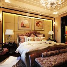 卧室:浪漫的细节装饰令人赏心悦目,以一种简单的手法提取古典欧式风格的精髓,品味不一般哦!