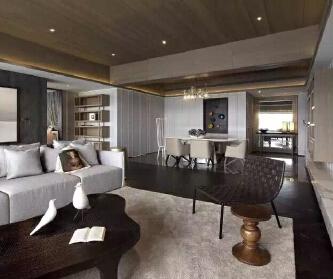四居室现代黑白灰风格-艺...