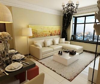张家山75平现代两居室