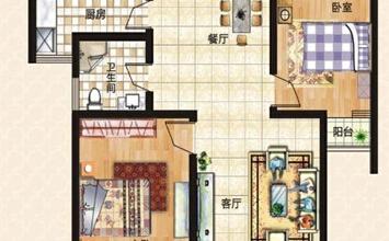 上东城89平方两室两...