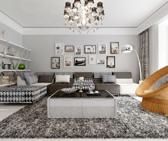 简约时尚黑白配个性公寓